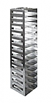 "Vertical Racks with Spring Clip for 2"" Boxes with Locking Rod (Capacity: 13 Boxes)"