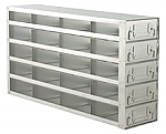 "Upright Freezer Drawer Rack for 2"" Boxes (Capacity: 20 Boxes)"