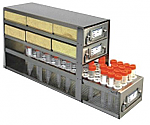 """Upright Freezer Drawer Rack for 2"""" Cardboard Boxes and 15mL Centrifuge Tubes (Capacity: 6 Boxes; 60 Tubes)"""