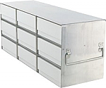 "Upright Freezer Rack for 2"" Boxes (Capacity: 9 Boxes)"