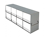 Upright Metal Freezer Racks for 15mL and 50mL Tube Boxes (Capacity: 8 Boxes)
