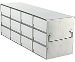 "Upright Freezer Rack for 2"" Boxes (Capacity: 12 Boxes)"