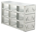 "Upright Freezer Drawer Rack for 3"" Boxes (Capacity: 9 Boxes)"