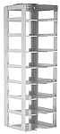 "Vertical Rack for 2"" Boxes (Capacity: 8 Boxes)"