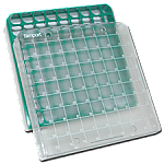 "Polycarbonate 2"" Boxes With 81 Cell Divider (Green)"