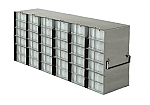 Upright Freezer Racks for 96-Deep Well Microtiter Plates and Micronic LOBO Racks with Locking Rod (Capacity: 36 Plates)