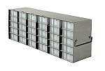 Upright Freezer Racks for 96-Deep Well Microtiter Plates and Micronic LOBO Racks with Locking Rod (Capacity: 30 Plates)