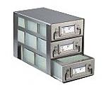 Upright Freezer Drawer Racks for 96 Deep-Well Microtiter Plates and Micronic LOBO Racks (Capacity: 9 Plates)