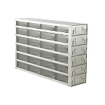 "Upright Freezer Drawer Rack for 2"" Boxes (Capacity: 24 Boxes)"