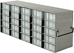 Upright Freezer Racks for 96-Deep Well Microtiter Plates and Micronic LOBO Racks with Locking Rod (Capacity: 25 Plates)